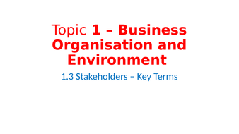 stakeholders of a business organization