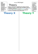 Douglas McGregor's Theory X and Y notes - A Level Business Studies