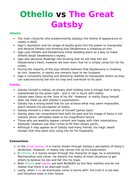 Othello and The Great Gatsby - Comparative notes