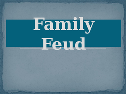 Family Feud Game Template By Jer520 Teaching Resources Tes