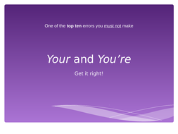 Your-and-You-re-powerpoint-quiz-and-tests-with-a-jazzed-up-theme!.ppt