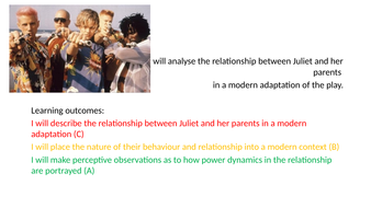 what is the relationship between romeo and his parents
