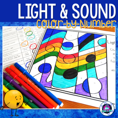 Light & Sound Colour-by-Number Activity