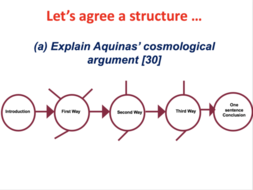 Aquinas Cosmological Argument Strengths Weakness And Essay Structure   Lessonessayplansheetpng