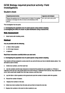 AQA new specification-REQUIRED PRACTICAL 9-Field investigations-B16