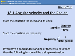 ocr a level physics angular velocity and the radian by srshaw89