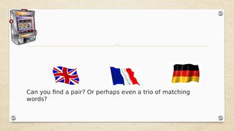 European Day of Languages /Open Evening : Human Fruit Machine Game