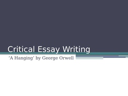 National  Higher Critical Essay Writing A Hanging By George  National  Higher Critical Essay Writing A Hanging By George Orwell Narrative Essay Topics For High School Students also What Is A Thesis Statement For An Essay  Who Can Do My Assignment