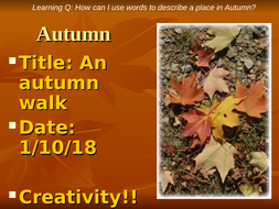 An Autumn Walk KS2/3