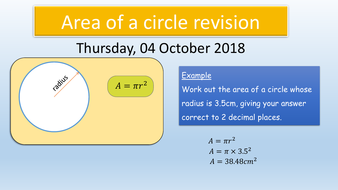 GCSE Maths 9-1: Area & Circumference of a Circle revision (including sectors)
