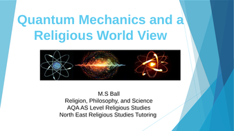 Work Scheme on Religion, Philosophy and Science (AQA AS Level