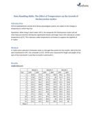 Data Analysis - Graph Plotting Skills