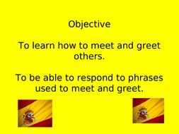 Meet and greet in spanish by teachingjj99 teaching resources tes meet and greet basic spanishppt m4hsunfo