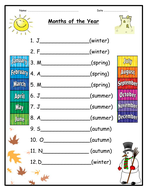Seasons and Months - 3 differentiated activity booklets