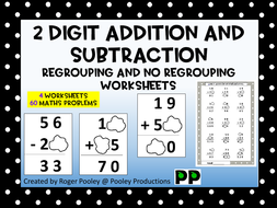 digit addition and subtraction regrouping and no regrouping  digitaddsubfullfilepdf