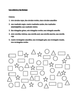 Colores y Formas (Colors and Shapes in Spanish) Worksheet by jer520 ...