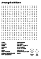Among The Hidden Word Search By Sfy773 Teaching Resources