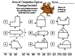 Area of Composite Figures Thanksgiving Math Activity