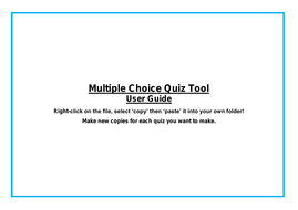 read me multiple choice quiz tool