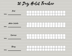 habit tracker by laurenswt teaching resources tes