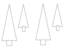 Christmas Tree card template with example picture by