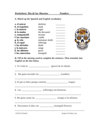 Día de los Muertos: Spanish Worksheet on Day of the Dead by ...