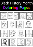 Black History Month Coloring Pages Teaching Resources