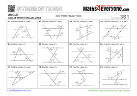 Angles In Parallel Lines Worksheets With Answers Teaching Resources