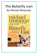 Butterfly Lion by Michael Morpurgo Worksheets