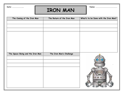 Iron Man storyboard and booklet