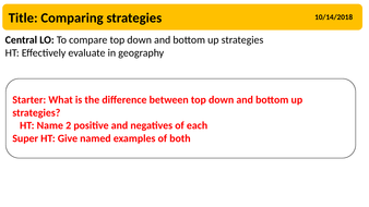 top down strategy example