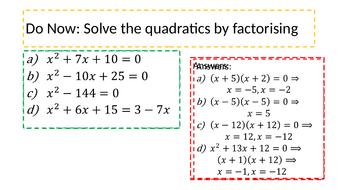 Quadratic Inequalities By Katylnewman Teaching Resources Tes