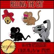 Belling The Cat (Aesop's Fable) Clip Art