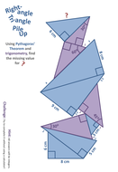 Right-Angle Triangle Pile Up | Teaching Resources