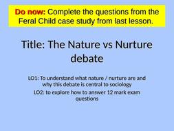 the nature vs nurture debate in sociology