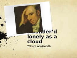 I wander'd lonely as a cloud (The Daffodils) William Wordsworth poetry analysis