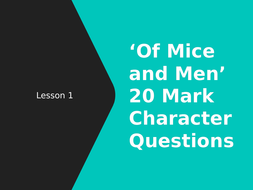 Of Mice And Men Wjec Slim  Mark Character Question By Rhill  Of Mice And Men Wjec Slim  Mark Character Question