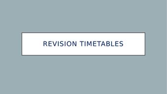 Study Skills - Revision Timetable