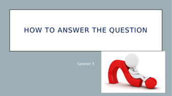 study skills - how to answer the question