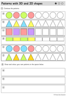 Year-1---WORKSHEETS---Patterns-with-3D-and-2D-shapes.pdf