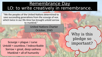 Remembrance Day Poetry - Wound in Time