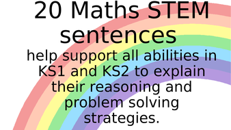 Maths mastery STEM sentences