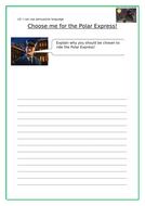 Polar Express Peruasive writing and Reading Challenge
