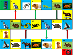 Animals Game Board PowerPoint Version