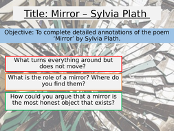 AQA Unseen Poetry - Sylvia Plath - Mirror | Teaching Resources