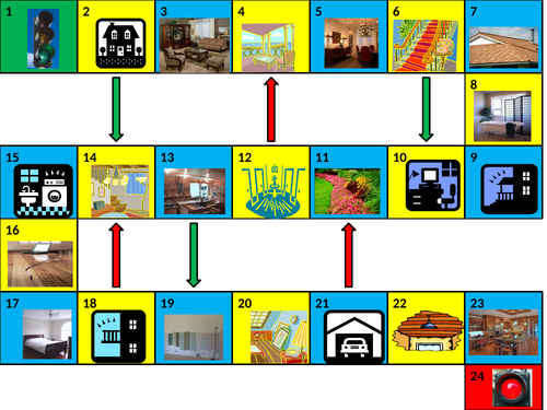 House Game Boards PowerPoint