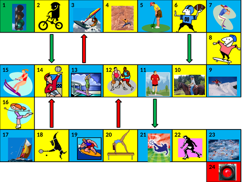 Sports Game Board PowerPoint