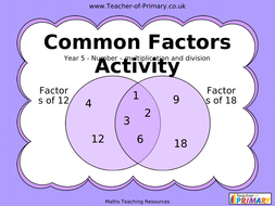 Common-Factors-Activity---Year-5.ppt