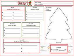 Christmas-Answer-Sheet-Tutor-Time-Version.pptx