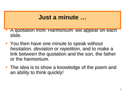 what is the poem harmonium about